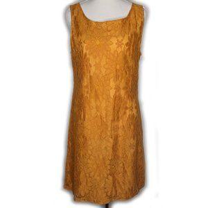 Princess Highway burnt orange lace mod dress